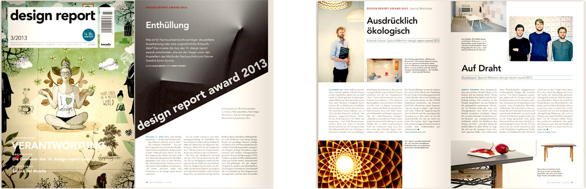 Design Report Magazine (Germany) In Wire